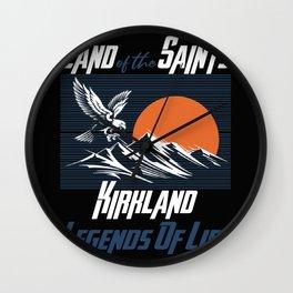 Land of the saints Kirkland Legends of life mask Eagles Funny Wall Clock
