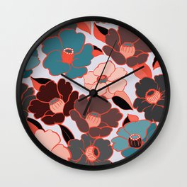 Japanese camellia Wall Clock