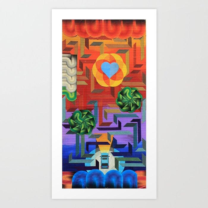 A Maze Of A Map Art Print By Inkyinspiration Society6