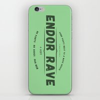 rave iPhone & iPod Skins featuring Endor Rave by Messypandas