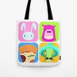 Floating BunnyHead Pop Square Tote Bag