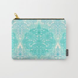 Happy Place Doodle in Mint Green & Aqua Carry-All Pouch
