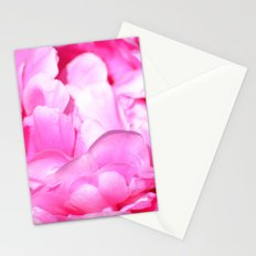 Pink Peony Flower Stationery Cards