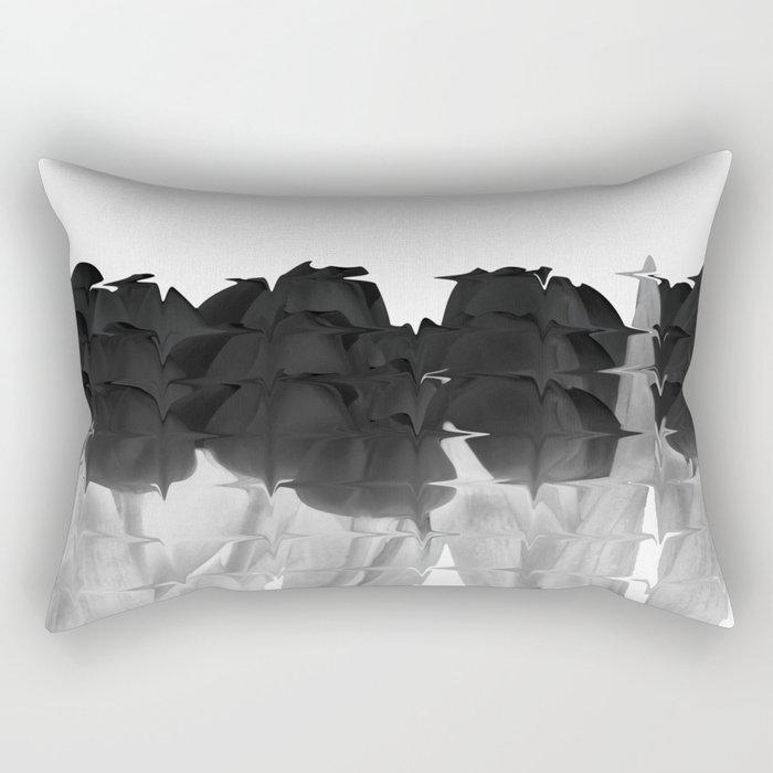 Black tulips Rectangular Pillow