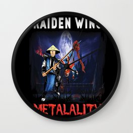 Raiden Wins Metalality Wall Clock