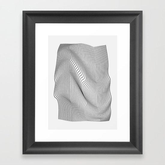 Minimal Curves Framed Art Print