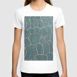Azure gold geodes T-shirt