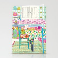 kitchen Stationery Cards featuring Kitchen by Maia Ferrell
