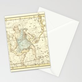 Vintage Map Print - 1822 - Alexander Jamieson - Ophiuchus and Serpent (and Scutum Sobieski) Stationery Cards