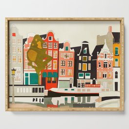 shapes houses of Amsterdam Serving Tray