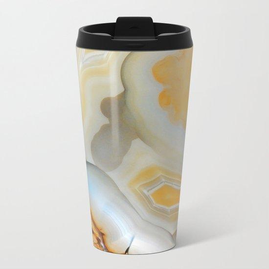 Autumnal Agate Metal Travel Mug