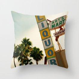 Art Mart Throw Pillow