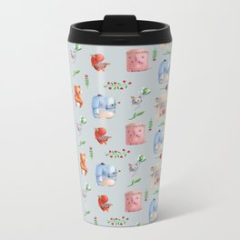 Unusual couples Metal Travel Mug