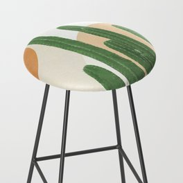 Abstract Cactus I Bar Stool