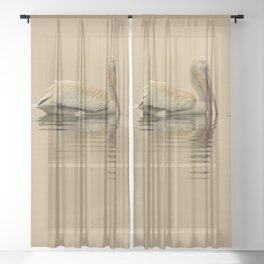 White Pelican 6964 - Smoky Western Sky Sheer Curtain
