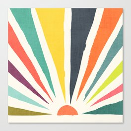 Rainbow ray Canvas Print