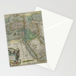 Vintage Map - Ortelius: Theatrum Orbis Terrarum (1606) - The Ottoman Empire Stationery Cards