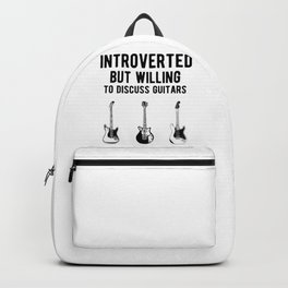 Funny Introverted Bass Guitarist - Guitar Player Backpack