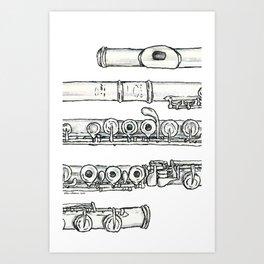 Flöte Art Print