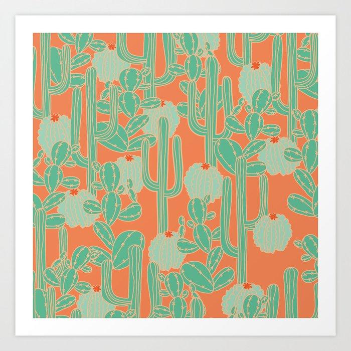 Cactus Mania Art Print