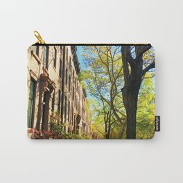 Cobble Hill Brooklyn New York in the Fall, Brownstones Carry-All Pouch