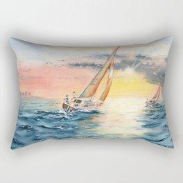 Sailing To The Sunset  Rectangular Pillow