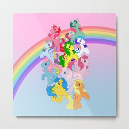 retro g1 my little pony Metal Print