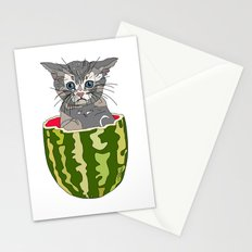 Kitty Cat Watermelon Stationery Cards
