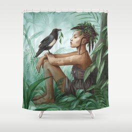 Kadiatou ~ A Compendium Of Witches Shower Curtain