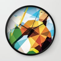 dc comics Wall Clocks featuring DC Comics Aquaman by Eric Dufresne
