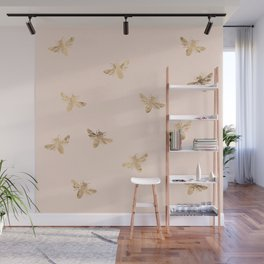Busy Bees (Pink) Wall Mural
