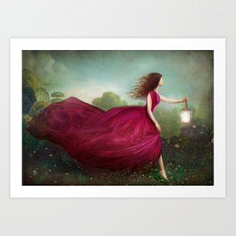 The Rose Garden Art Print