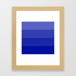 Four Shades of Blue Framed Art Print