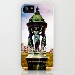 A Day In The Town By The Lake iPhone Case