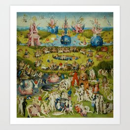 """Hieronymus Bosch """"The Garden of Earthly Delights"""" Art Print"""