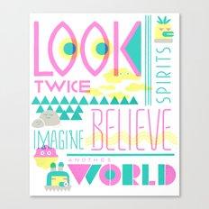 Look Twice Canvas Print