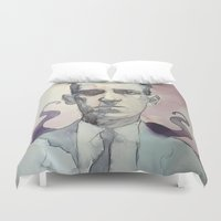 lovecraft Duvet Covers featuring LOVECRAFT by Germania Marquez