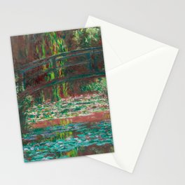 Water Lillies and Bridge by Claude Monet Stationery Cards