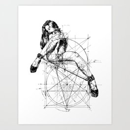 Samael Lilith and the Golden ratio Art Print
