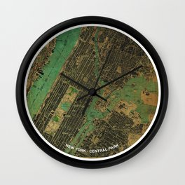 New York and Groucho Marx funny quote, gift for NY lovers and writers Wall Clock