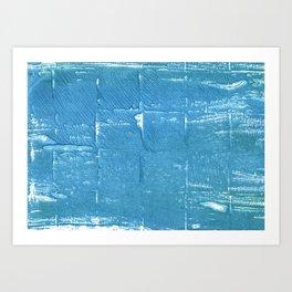 Carolina blue abstract watercolor Art Print