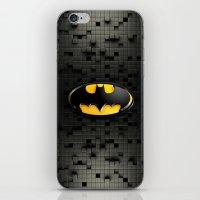 bat man iPhone & iPod Skins featuring BAT MAN by BeautyArtGalery