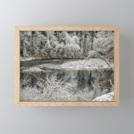 Late Winter's Snow Framed Mini Art Print