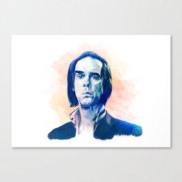 Nick Cave portrait Canvas Print