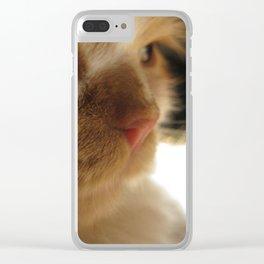 Cute Cat Face Clear iPhone Case