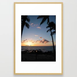 MERRY MAUI CHRISTMAS Framed Art Print