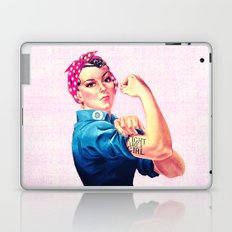 Fight Like A Girl Rosie The Riveter Girly Mod Pink Laptop & iPad Skin