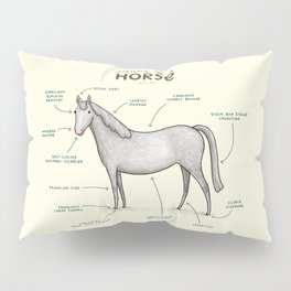 Anatomy of a Horse Pillow Sham