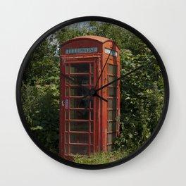 Telephone box Wall Clock