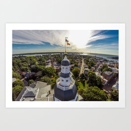 Maryland State House by Air Art Print